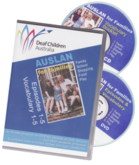 Auslan for Familes : DVD and CDROM set